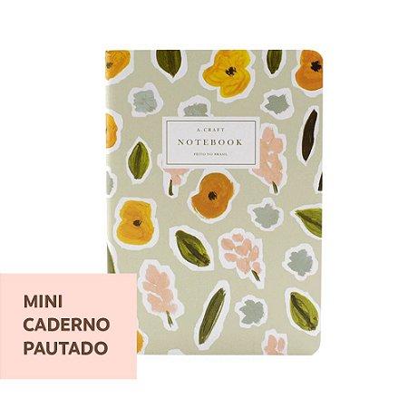 Mini Caderno Pautado Flores de Outono Para Mini Planner A.Craft
