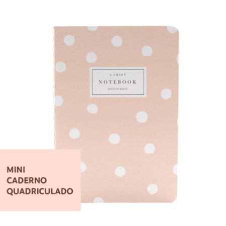Mini Caderno Quadriculado Champagne Rosé Para Mini Planner A.Craft