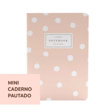Mini Caderno Pautado Champagne Rosé Para Mini Planner A.Craft