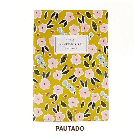 Caderno Pautado Primavera Romântica Para Planner A.Craft Tamanho Padrão
