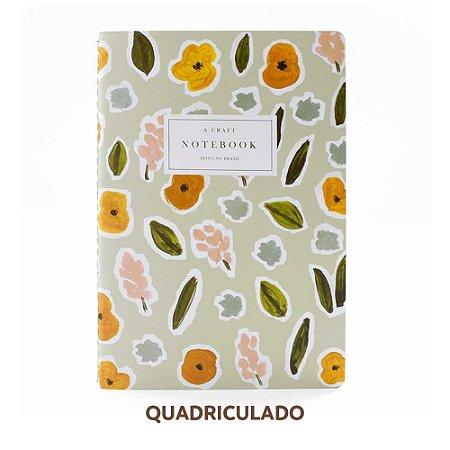 Caderno Quadriculado Flores de Outono Para Planner A.Craft Tamanho Padrão