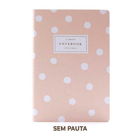 Caderno Sem Pauta Champagne Rosé Para Planner A.Craft Tamanho Padrão