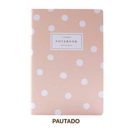 Caderno Pautado Champagne Rosé Para Planner A.Craft Tamanho Padrão