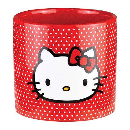 Cachepot de Cerâmica Hello Kitty White Dots Vermelho