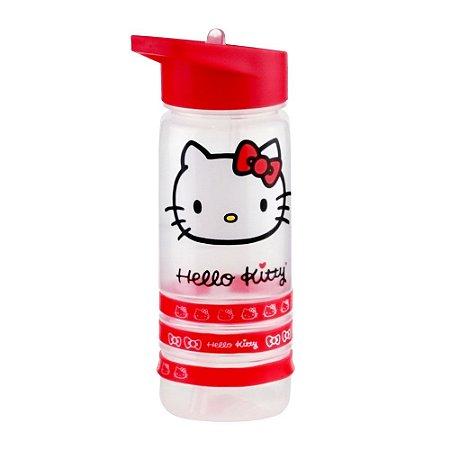 Garrafa Plástica Squeeze Hello Kitty Red Bracelet Vermelho