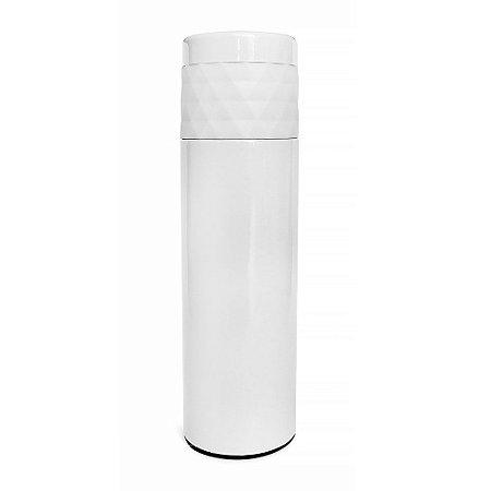 Garrafa Térmica Inox 480ml Diamante Branca