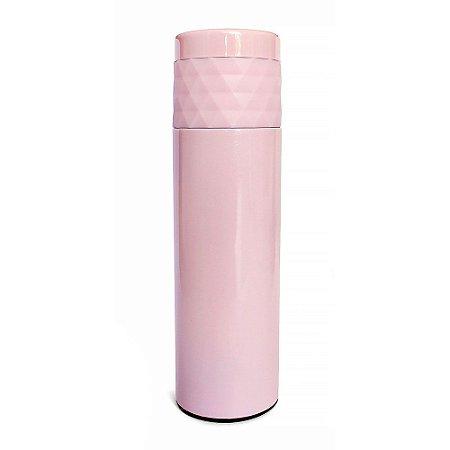 Garrafa Térmica Inox 480ml Diamante Rosa