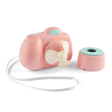 Mini Ventilador Portátil USB Máquina Fotográfica Rosa