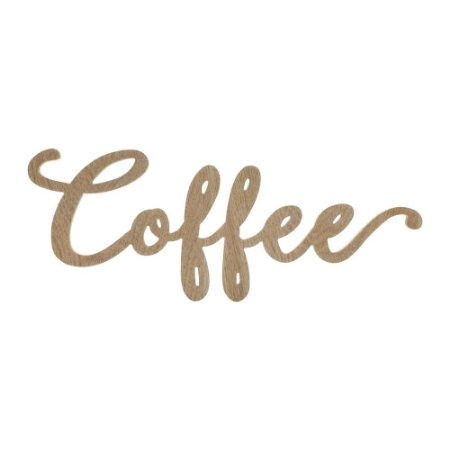 Placa Decorativa Coffee em Madeira