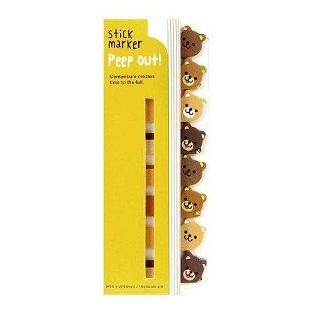 Post-it Stick Marker Peep Out Urso - Amarelo
