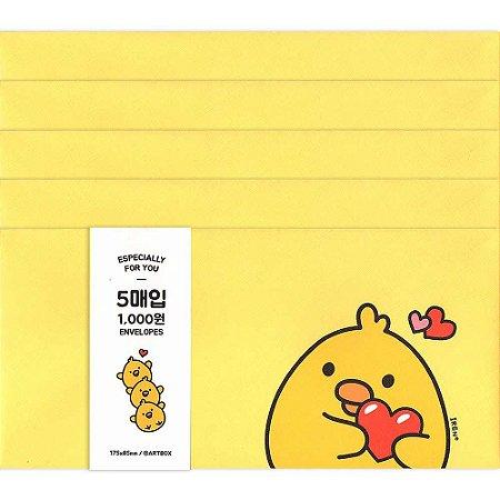 Kit Envelopes Galapagos Friends Especially For You Pintinho Iren Amarelo