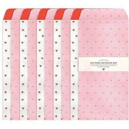 Kit Envelopes Pattern Corações