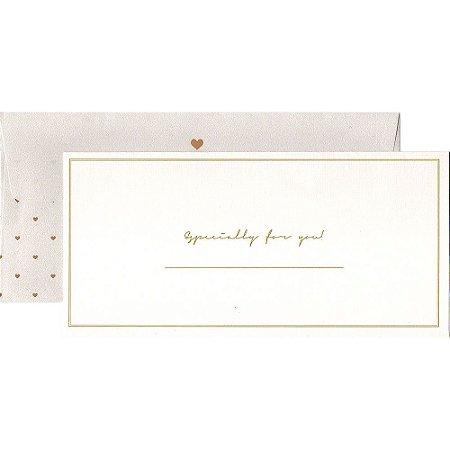 Kit Envelope e Cartão Especially For You Perolado