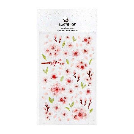 Adesivo Divertido Transparente - Water Blossom