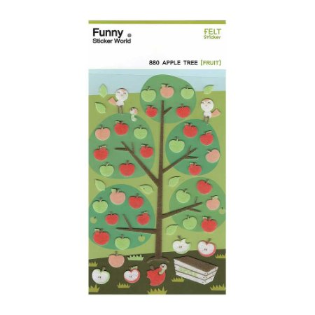Adesivo Divertido Feltro - Apple Tree [TREE]
