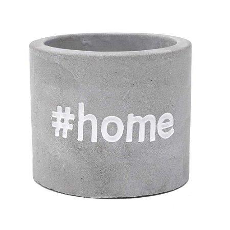 Cachepô Concreto Sweet Home Cinza #Home