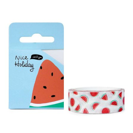 Fita Decorativa Washi Tape - Frutas Nice Holiday Branco