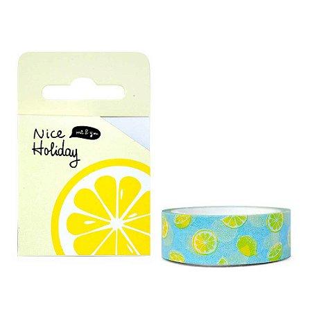 Fita Decorativa Washi Tape - Frutas Nice Holiday Limão Amarelo