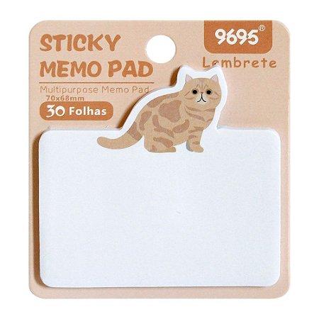Post-it Sticky Memo Pad 9695 - Gato Laranja