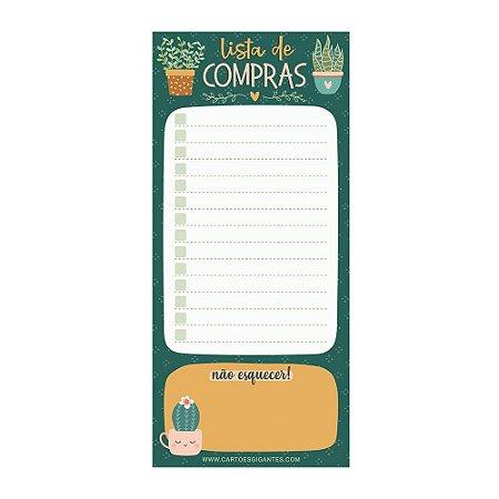 Notepad Magnético Bloco Lista de Compras My Plants - Cartões Gigantes