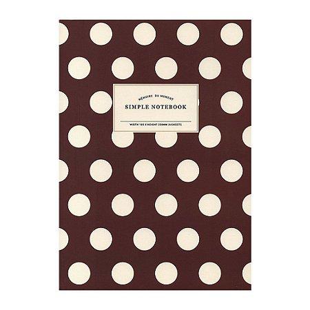 Caderno Brochura Simple Notebook Poá Vinho - Artbox
