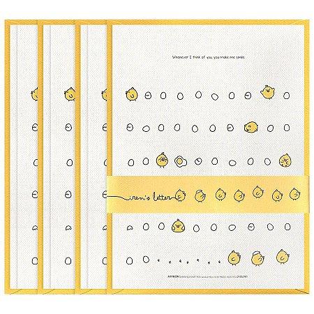 Papel de Carta Iren's Letter Pintinho Galapagos Friends Amarelo
