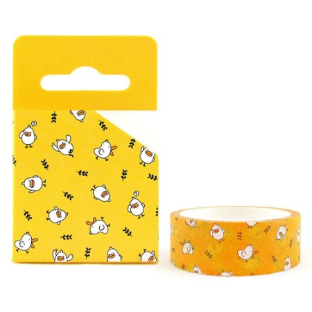 Fita Decorativa Washi Tape - Galapagos Friends Patinho Mali Amarelo
