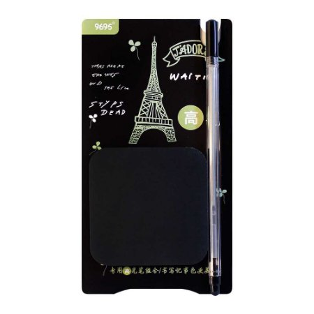 Kit de Post-it e Caneta Gel Prateada Paris