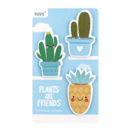 Cartela de Post-its Cactos Plants Are Friends Azul