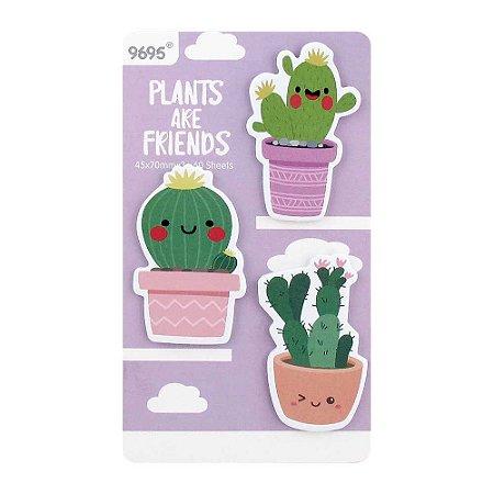 Cartela de Post-its Cactos Plants Are Friends Roxo