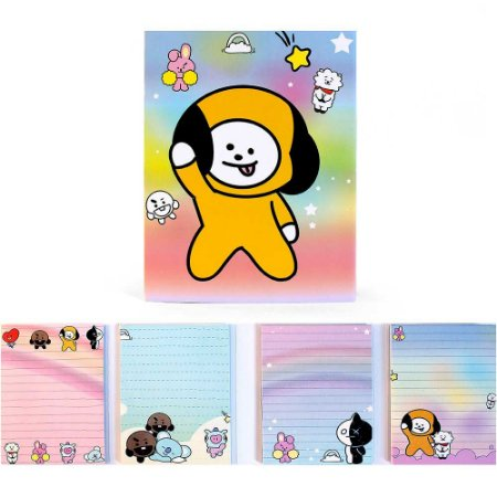 Cartela de Post-it BT21 BTS Chimmy