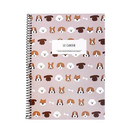 Caderno Espiral Médio Le Cahier Cachorros Marrom - Artbox