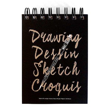 Caderneta Para Desenho Espiral Drawing Dessin Sketch Croquis - Artbox
