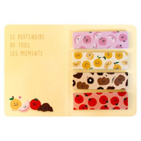 Cartela de Washi Tapes em Tiras Frutas Amarelo - Artbox