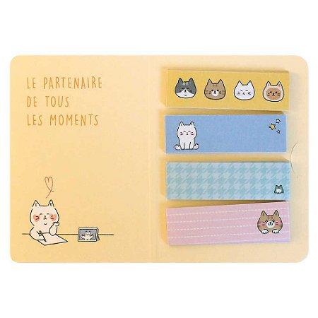Cartela de Washi Tapes em Tiras Gatos Amarelos - Artbox