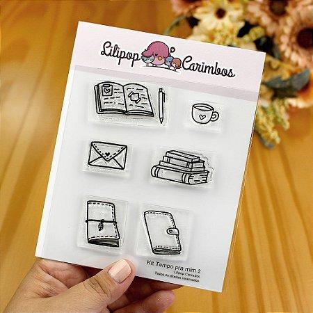 Kit de Carimbos Tempo Para Mim 2 - Lilipop
