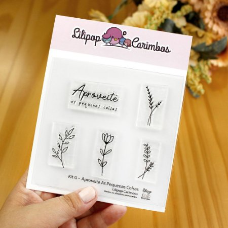 Kit de Carimbos Aproveite as Pequenas Coisas - Lilipop