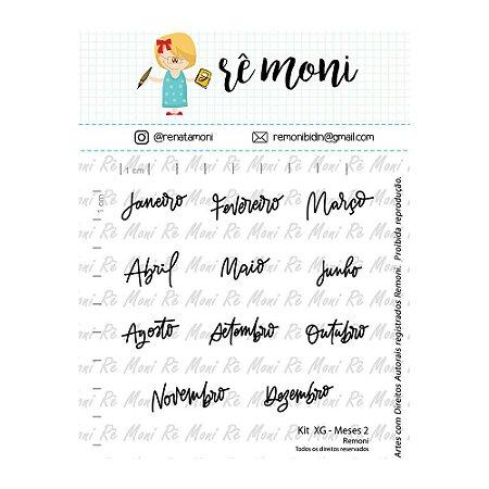 Kit de Carimbos XG Meses 2 Rê Moni - Lilipop
