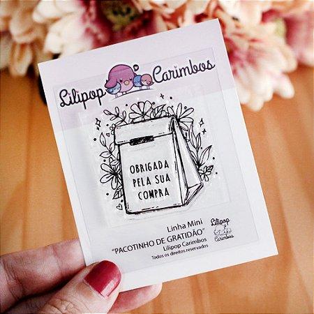 Carimbo Mini Pacotinho de Gratidão - Lilipop