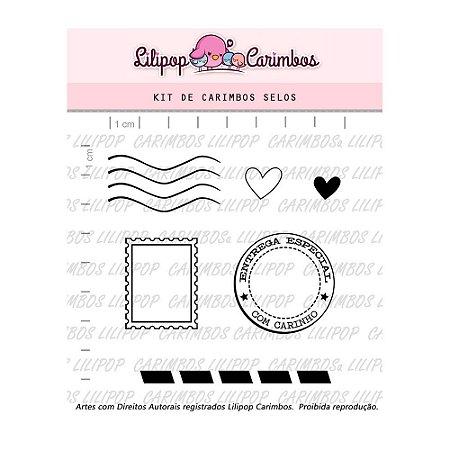 Kit de Carimbos Selos- Lilipop