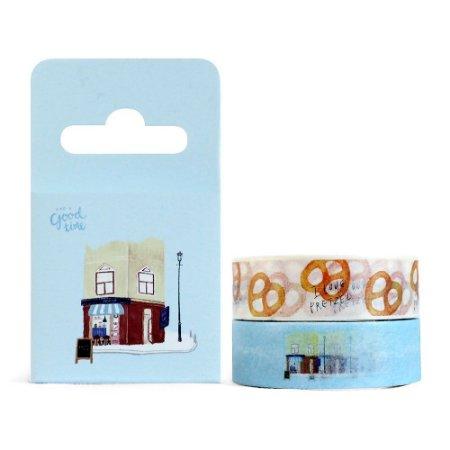 Kit de 2 Fitas Decorativas Washi Tape - Home Had a Good Time Azul