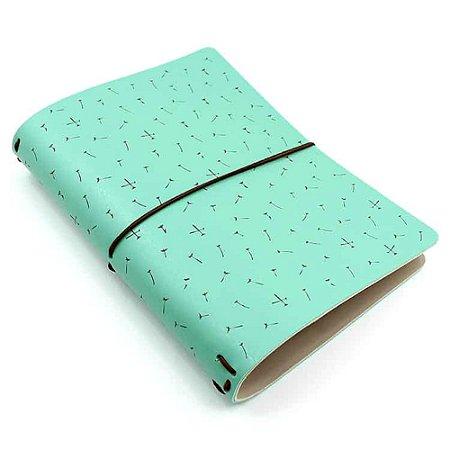 Capa Verde Menta Dandelion (Para 4 Blocos) Para Planner A.Craft Tamanho Padrão