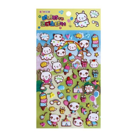 Adesivo Divertido Puffy - Eaki Panda