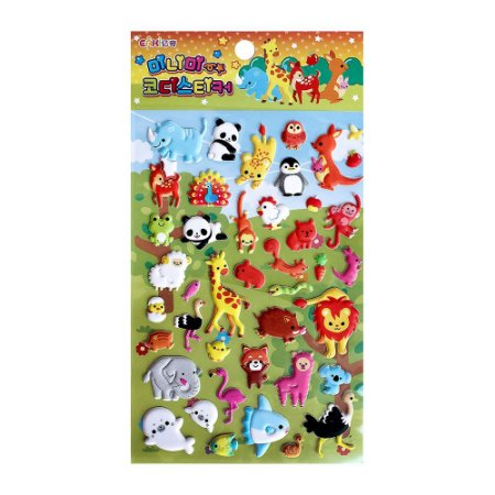 Adesivo Divertido Puffy - Eaki Animais Zoológico