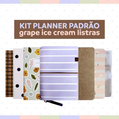 Kit Planner Padrão Grape Ice Cream Listras