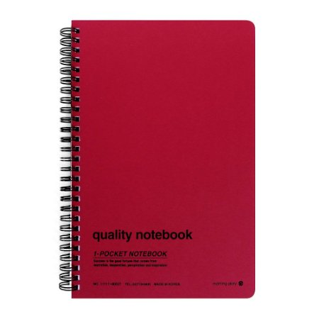 Caderno Espiral Capa Dura Pautado Com Bolso Quality Notebook Vermelho - Morning Glory
