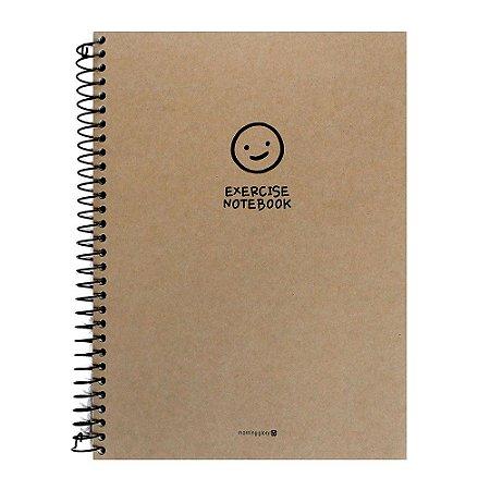 Caderno Espiral Sem Pauta Exercise Notebook Rostinho Kraft - Morning Glory