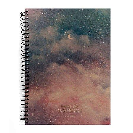 Caderno Espiral Sem Pauta Exercise Notebook Céu - Morning Glory