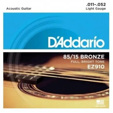 Encordoamento D'Addario Aço EZ910 85/15 - Light 010 - 050