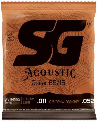 Encordoamento SG Strings Acoustic 85/15 - Custom Light 011 - 052